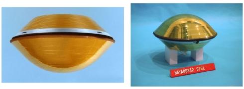 はやぶさ初号機(左)とはやぶさ2(右)の再突入カプセル