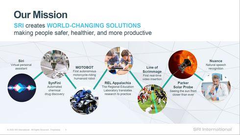 SRIインターナショナルはSiriやMOTOBOTなどを開発した世界的な研究機関だ[クリックして拡大]出典:SRIインターナショナル