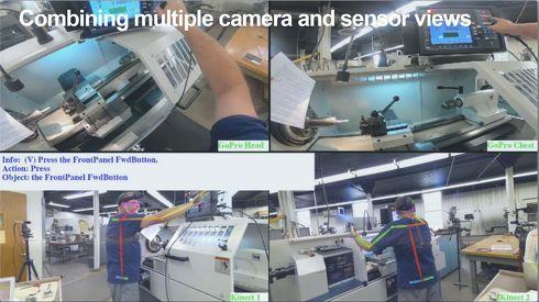 各センサーやカメラを熟練技術者に装着した際のイメージ図[クリックして拡大]出典:SRIインターナショナル