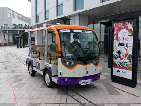 HICityのイノベーションコリドーを運行する自律走行低速電動カート