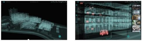 「3D K-Field」の表示画面と位置情報表示イメージ