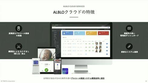 AWSを用いて開発した「ALBLOクラウドサービス」[クリックして拡大]出典:タニタ
