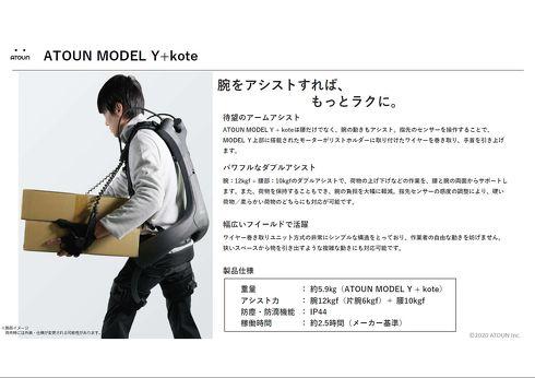 MODEL Y + koteの性能概要[クリックして拡大]出典:ATOUN