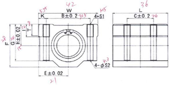 部品寸法を確認し、図面内に数値を書き込む