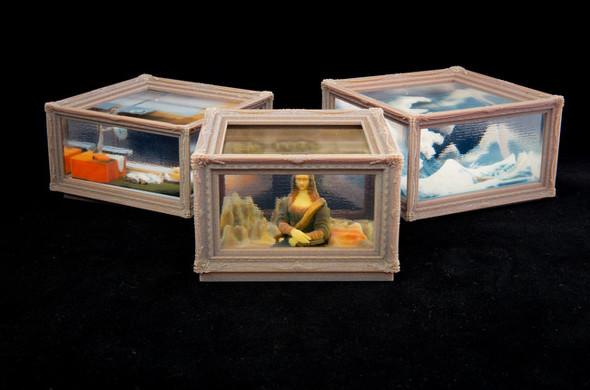 ストラタシス・ジャパン全面協力の下、メルタが製作した「3Dプリント名画」