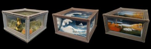 オークション出品に先立ち、メルタのオフィスにて「3Dプリント名画」を展示する