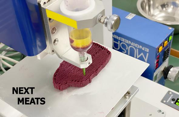 3Dプリンタを使った代替肉の開発