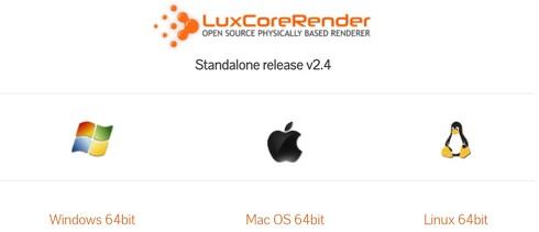 LuxCoreRenderのダウンロード