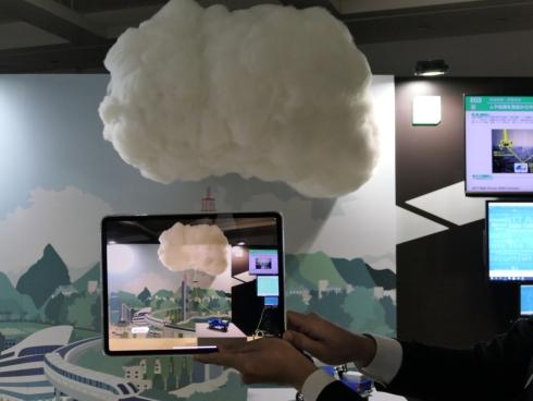 開発中の技術の展示