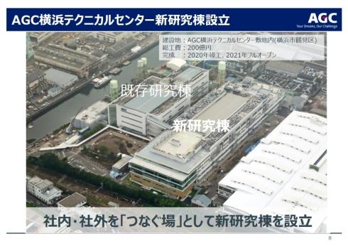 新研究開発棟が完成したAGC横浜テクニカルセンター