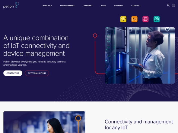 PelionのWebサイト