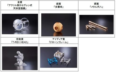 造形加工部門の受賞作品