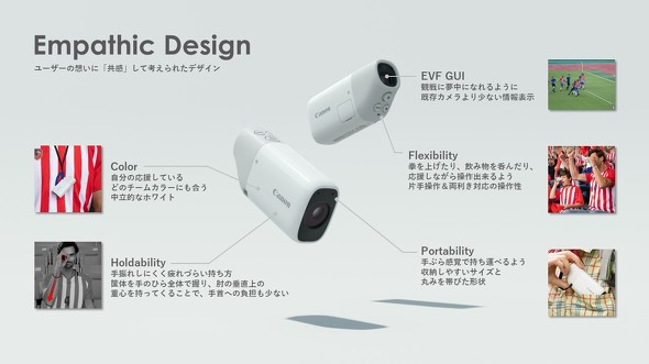 「Empathic Design」の考えに基づき「PowerShot ZOOM」のコンセプトが研ぎ澄まされていった