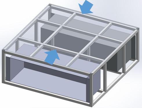 大型架台(筐体)のイメージ図