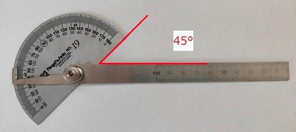 45度の場合
