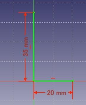 面の基になる線を描く