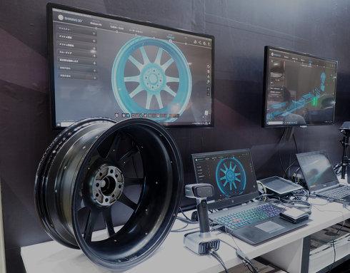 日本3Dプリンターのブースに展示されていたShining 3D製最新3Dスキャナー「EinScan HX」