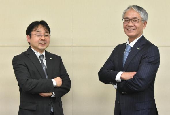 日立製作所の吉村行晴氏と及川充氏