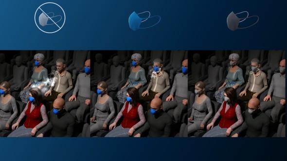 マスク着用の有効性を評価
