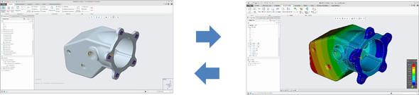 CADモデルの性能をリアルタイムに表示