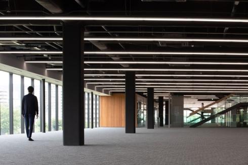 コニカミノルタの「ハイブリッド5Gオープンラボ」の内装イメージ
