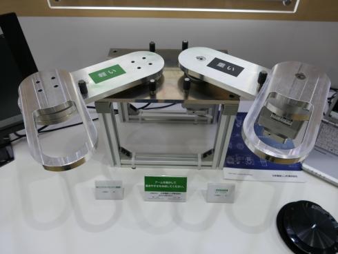 日本電産シンポの高バックドライバビリティ減速機のデモ展示