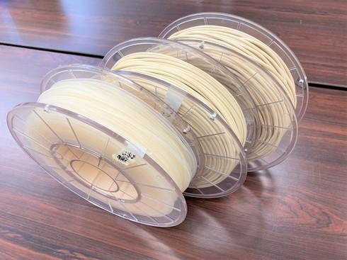 DICが開発した「国内初」をうたう抗ウイルス性/抗菌性に作用する3Dプリンタ用フィラメント。2021年度中の販売を目指す