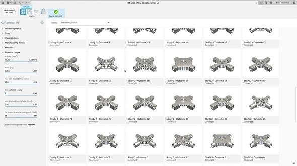 Fusion 360のジェネレーティブデザインは、クラウドおよび機械学習のパワーで、設計から製造までのプロセスを加速させます