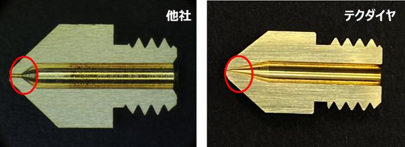 ノズル断面での先端部の比較