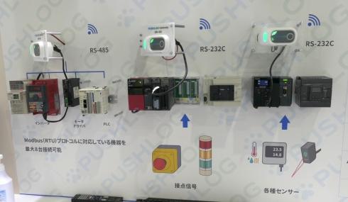 「PUSHLOG Gateway」とPLCの接続はRS-232CとRS-485を用いる
