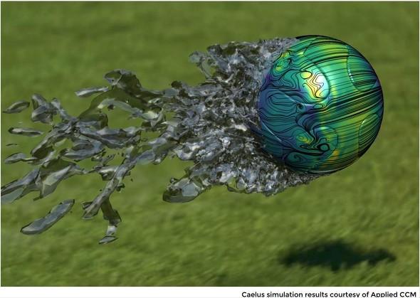 シュートされたサッカーボールの空力特性を可視化