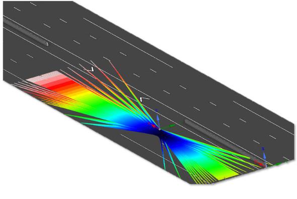 LiDARモデルのスキャンと回転によりセンサーシミュレーション機能を拡張