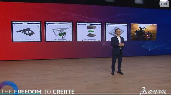 クラウドベースコラボレーションを実現する新たな3Dツール群について紹介するバッシ氏