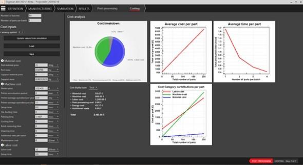 Digimat-AM を使用した製造コスト解析