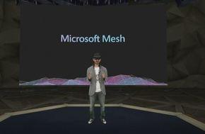 「Microsoft Mesh」の概要について語るキップマン氏