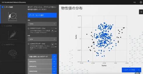 「データ選択」の画面