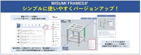 UIデザインを大幅リニューアルしたアルミフレーム筐体設計ソフトウェア「MISUMI FRAMES」