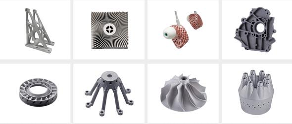 金属3D造形品の例