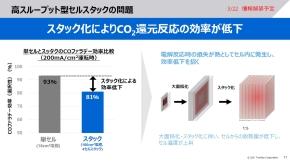 P2C電解セルにおける大面積化とスタック化の課題
