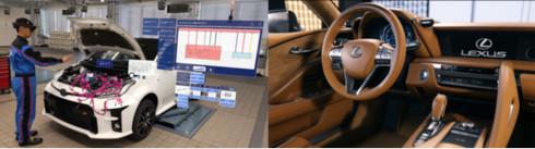「Unity」のリアルタイム3D技術を用いたトヨタグループでの活用イメージ