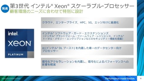 第3世代「Xeon SP」の特徴