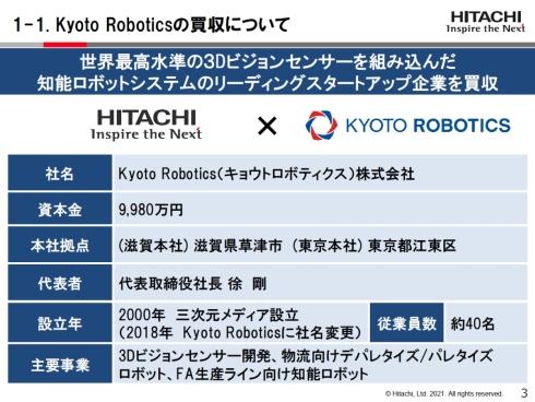 Kyoto Roboticsの概要