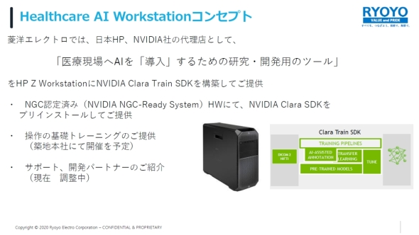 「Healthcare AI Workstation」のコンセプト