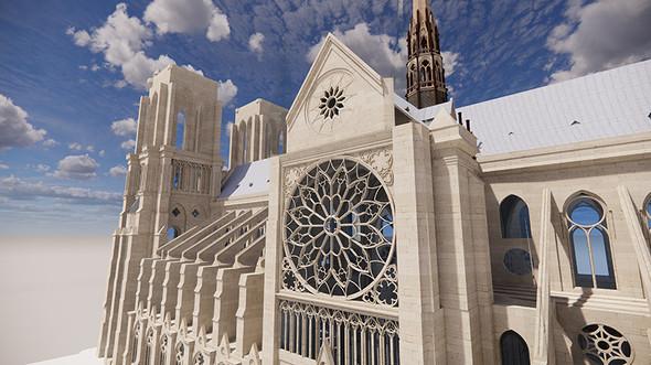 ノートルダム大聖堂の3Dモデル【2】
