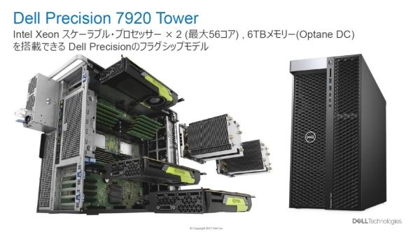 デルのワークステーションのフラグシップモデル「Dell Precision 7920 Tower」