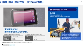 FZ-S1の防塵・防滴・防水性能