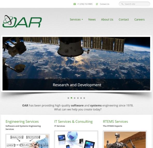 OAR CorporationのWebサイト