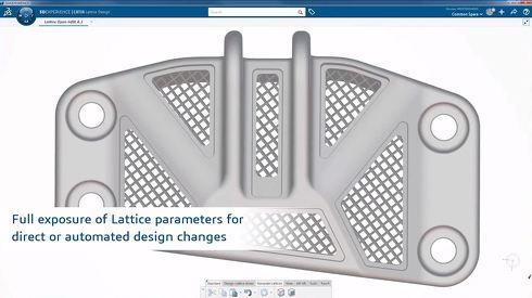 ダッソー・システムズでは「3DEXPERIENCE CATIA」が提供するラティス構造の設計機能についても検証を始めている