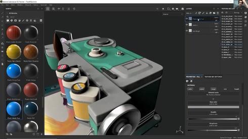 「Substance 3D Painter」の画面イメージ