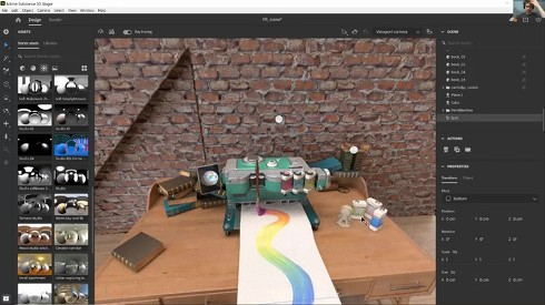 「Substance 3D Stager」の画面イメージ
